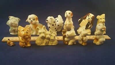 Lot Of 12 Ceramic And Porcelain Dogs