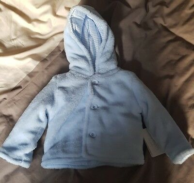 Blue Button Down Hoody 6-9 Months