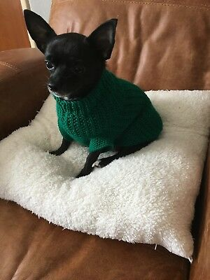 Hand knitted dog jumper for Chihuahuas and small dogs - body length 13.5''