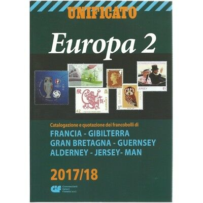 Unificato 2017-2018 Catalogo Francobolli Europa Volume 2 Mf25557