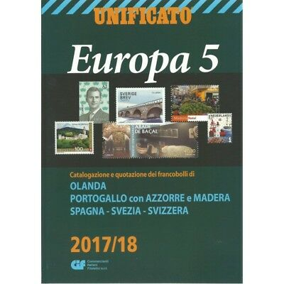 Unificato 2017-2018 Catalogo Francobolli Europa Volume 5 Mf25554