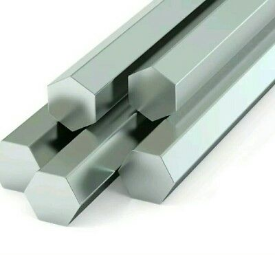 "CHEAP  1.3"" - 33mm -  ALUMINIUM HEXAGON BAR - various lengths"