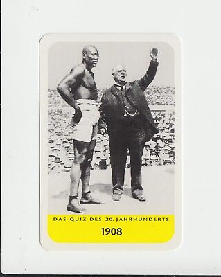 Boxing : Jack Johnson : attractive German collectable game card