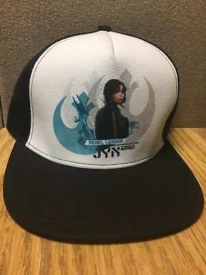 Rare Jyn Erso SnapBack Hat Rogue One A Star Wars Story Rebel Trucker Cap