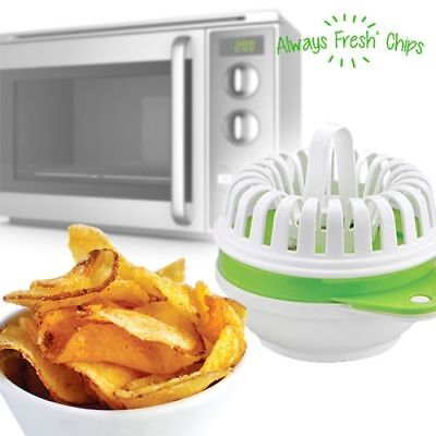 Always Fresh Chips Maker Mikrowellen Maker für Chips Kartoffel Ideal für Partys