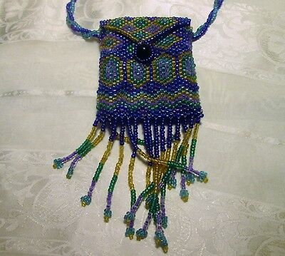 Southwest  beaded purse necklace in excellent condition