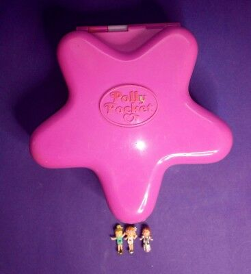 Vintage 1993 Polly Pocket Fairy Light Ball with 3 figures.