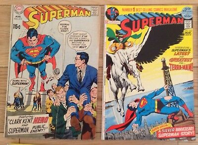 Lot Of 14 DC COMICS Vintage Comic Books SUPERMAN, SUPERBOY VERY OLD 1960's