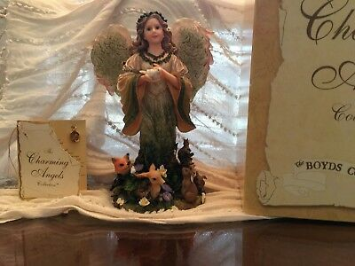 "Boyds Bears CHARMING ANGEL COLLECTION - FLORAMELLA 2001""Guardian of Nature"" RARE"