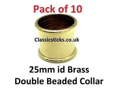 Collar Brass Double Beaded  25mm id Pack 10, walking stick making