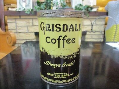 Gristede Brothers Grisdale One Pound vintage coffee can tin New York