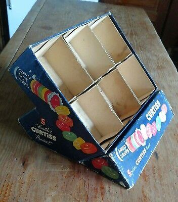 VINTAGE 1950s CURTISS FRUIT DROPS CANDY STORE DISPLAY BOX