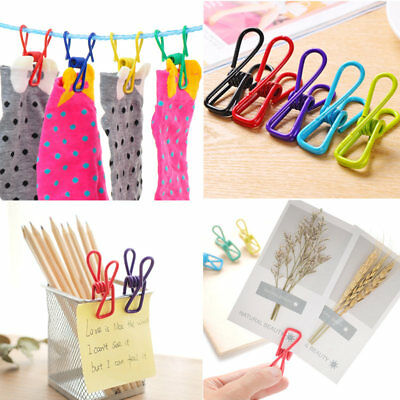 10pc/set Hollow Metal Folder Binder Clip Note Paper File Hanging Office Supplies