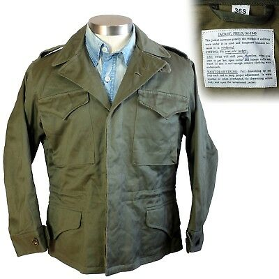 M-1943 field jacket army coat 36 short WWII vintage rp 1940s m43