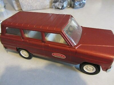Vintage Tonka Red Jeep Wagoneer 1960's Toy Car Truck