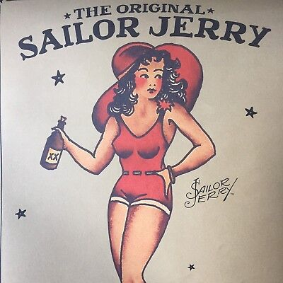Sailor Jerry Limited Edition Collectible Tin Canister And Poster ONLY Pinup Girl
