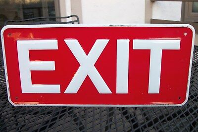 """1950's NOS Sign """"EXIT"""" Original Embossed Sign - Very Good Condition!!"""