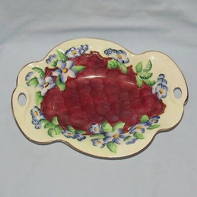 Maling England Blossom Bough Tubelined Two Handle Dish