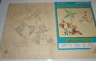 Vintage- Semco 862- Mexican & Donkey-Doilie, Doily-New,unused