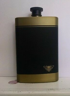 Jack Daniels Honey Whiskey Flask Beautiful! Matte Gold And Black