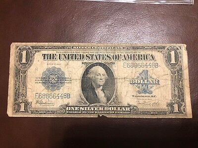 1923 $1 LARGE SIZE SILVER CERTIFICATE Big Note Blue Seal NR