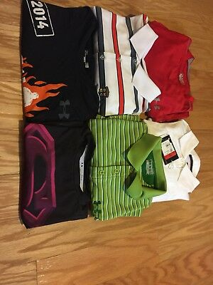Men's Nike Under Armour Lot Of 6 Polo, Tshirts, Nike Golf, Tiger Woods NWT Large