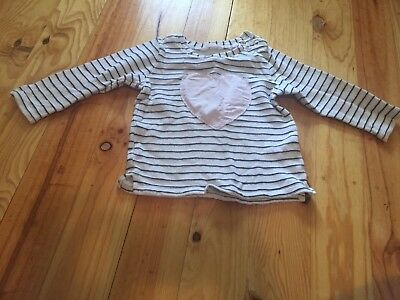 Country Road Sz 12-18 Months Girls Heart Striped Jumper
