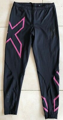 2XU WOMEN'S Compression 3/4 Length running gym yoga tights Size L