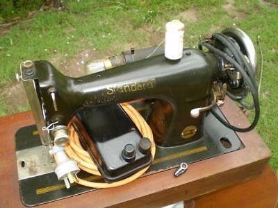 Vintage Lada Standard sewing machine has electric motor foot & Display case