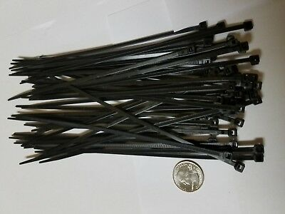 "50 Pack 8"" Black Zip Ties Cable Ties Heavy Duty Nylon UV Resistant UL Scorpion"