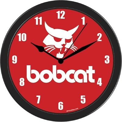 Bobcat Skid steer mower equipment Collectable office home  Large wall Clock