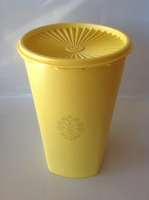 Tupperware Vintage Tall Yellow Canister