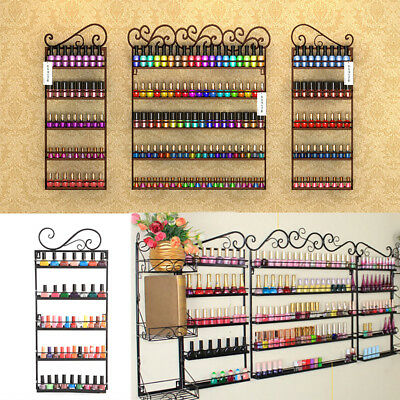 5 Tier Nail Polish Rack/ Varnish Shop Display Stand - Wall Mounted Black H ~