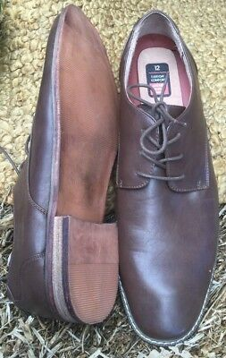 Mens Brown Leather-lined dress shoe