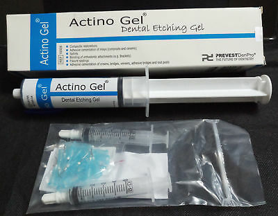 Prevest Actino Dental Etching Gel 1 X 5ml Syringe With 10 Appicator Tips