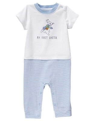 NWT Gymboree Peter Rabbit Bunny Romper 0 3 6 12 18 24mo Baby Boy My first Easter