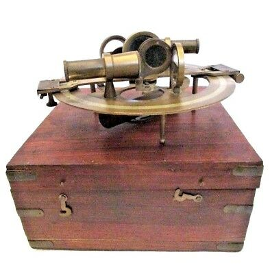 STANLEY LONDON Marine Sextant - Wooden & Brass  - LARGE (629)