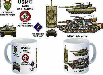 M1A1 Abrams 1st, 2nd, 4th Tank bn Coffee Mug
