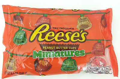 4 x Reese's Milk Chocolate Peanut Butter Cup Miniatures Bag - 240g