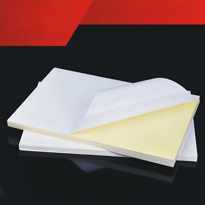 50pcs Self Adhesive White A4 Blank Vinyl Sticker Label Paper For Laser Printer