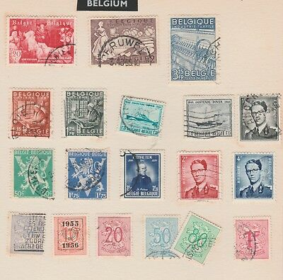 BELGIUM Collection, EARLY ISSUES, textiles, Dover, etc as per scan USED  #
