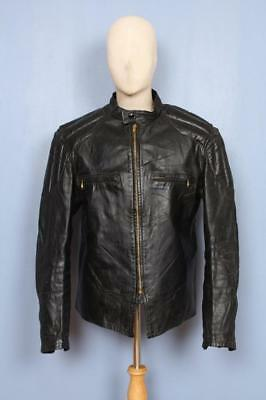 Stunning Vtg 50s CAL LEATHER California HORSEHIDE Cafe Racer Motorcycle Jacket