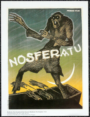 Nosferatu 1922 Czech Film Movie Poster Page . Vampire Count Orlok Max Schreck H1