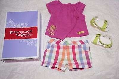 "American Girl Truly Me Sunshine Garden platform shoes complete outfit 18"" doll"