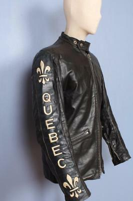 Vtg 60s BRITISH CYCLE LEATHERS Brimaco Cafe Racer Motorcycle Jacket Small