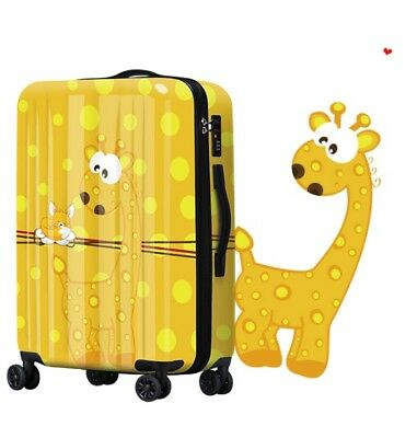 E299 Lock Universal Wheel Yellow Deer Travel Suitcase Luggage 20 Inches W