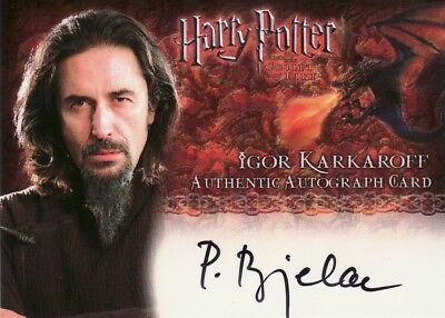 Harry Potter Goblet of Fire Predrag Bjelac as Igor Karkaroff Auto Card