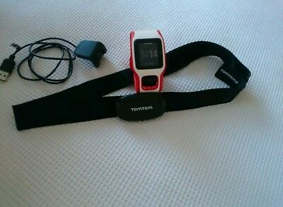 Tom Tom Runner GPS watch with Tom Tom Heart Belt Excellent Condition
