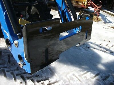 New Quick Attach Mount Plate for New Holland - Powder Coated Black !