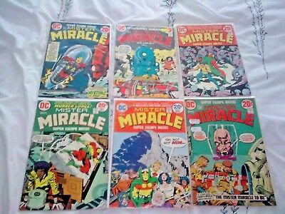 MISTER MIRACLE...DC Comics 1972-74, 06 ISSUES! ALL FINE-VERY FINE.